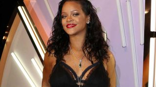 Rihanna en la presentación de su nueva línea Savage x Fenty. / Gtres