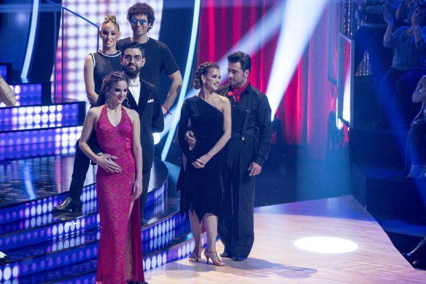 El beso furtivo de David Bustamante y Yana Olina en 'Bailando con las estrellas'