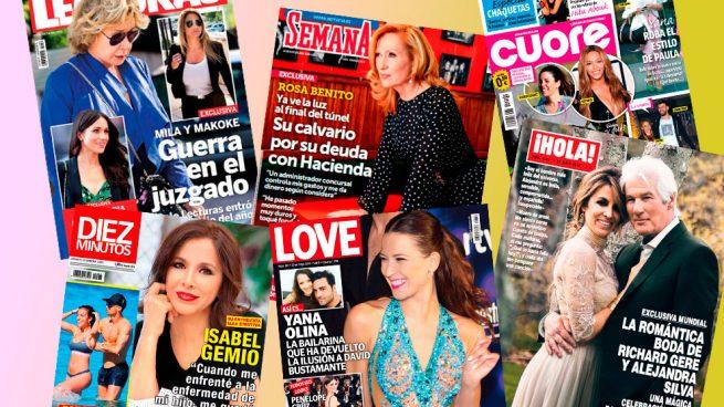 David Bustamante, Mila Ximénez y Rosa Benito, protagonistas de las revistas de este miércoles