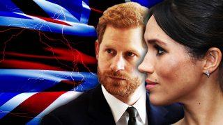 El príncipe Harry y Meghan Markle en un fotomontaje de LOOK
