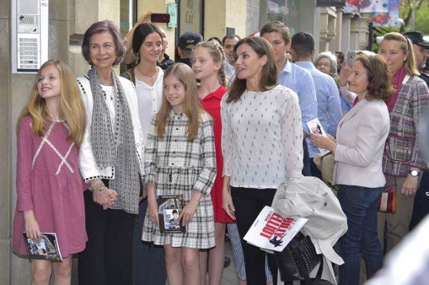 Letizia reina Sofía teatro