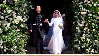 El príncipe Harry y Meghan Markle a su salida de la capilla de San Jorge / Gtres