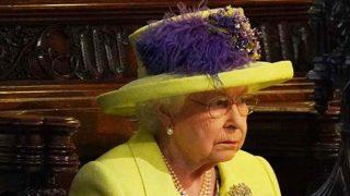 La Reina Isabel II durante la boda de Harry y Meghan / Gtres
