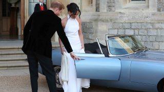 Los recién casados cuando se dirigían a la recepción /Gtres