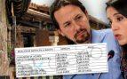 El documento original de los gastos del chalé de Iglesias: 750 € sin incluir jardinero ni servicio