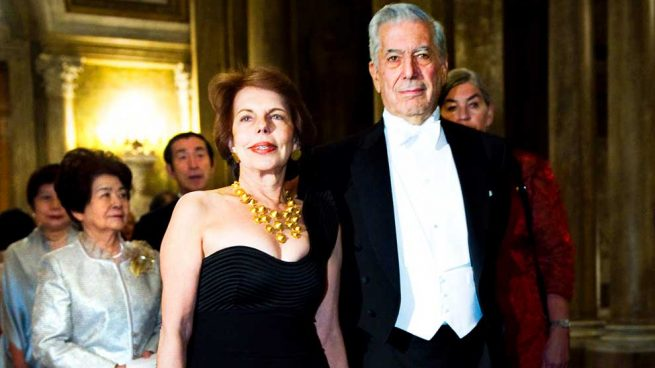Vargas Llosa y su exmujer, Patricia