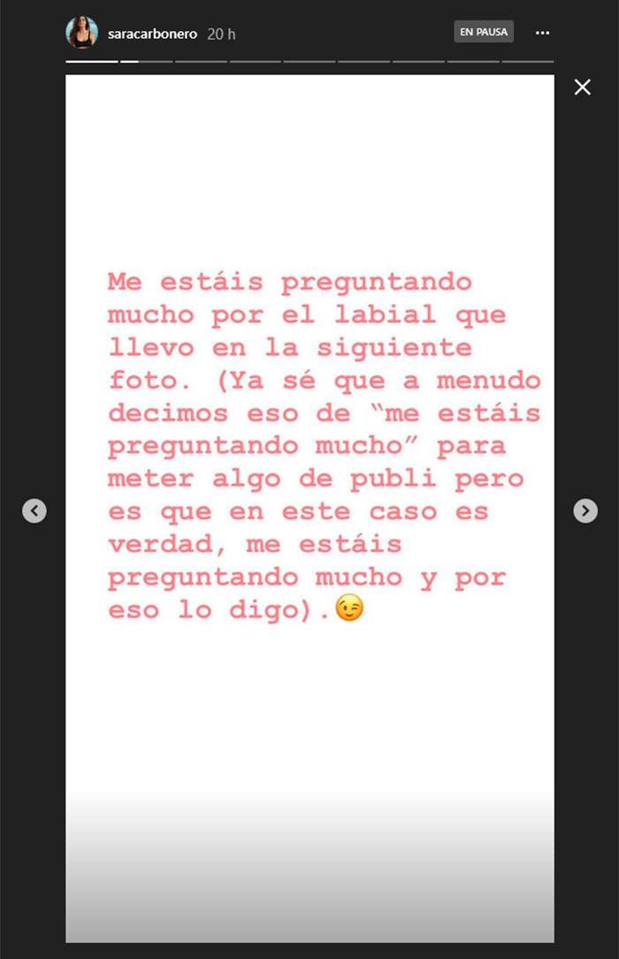 storie instagram sara carbonero