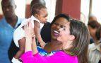 reina Letizia en Haití