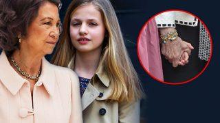 La reina Sofía y la princesa Leonor en un fotomontaje / Gtres