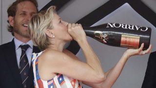 La princesa Charlene de Mónaco festeja la victoria en F1 /Gtres