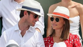 Pippa Middleton y su marido James Mathews en Roland Garros