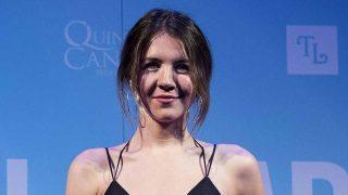 La actriz Andrea Guasch en la presentación de 'La Llamada' este jueves /Gtres