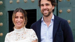 Elena Tablada y Javier Ungría en el bautizo de la hija de Elisabeth Reyes / Gtres