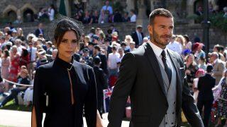 David y Victoria Beckham en la boda de Meghan y Harry / Gtres