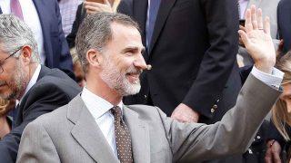 El rey Felipe en la corrida de la prensa este domingo /Gtres