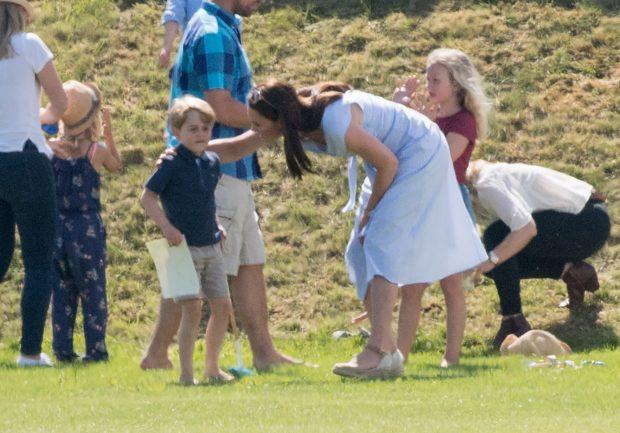 EN IMÁGENES : Kate Middleton, una madraza en el polo