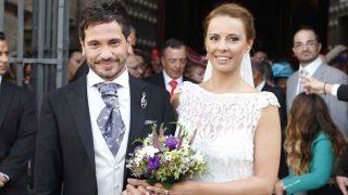 David de María y Lola Escobedo el dia de su enlace /Gtres