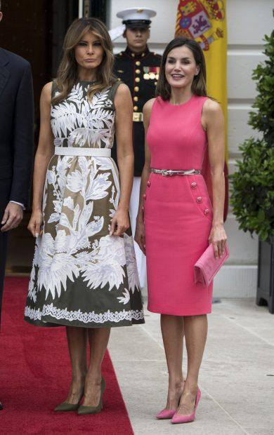 La reina Letizia y Melania Trump