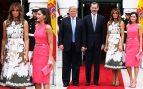 Los reyes Felipe y Letizia se reúnen a los Trump