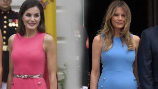 Letizia Ortiz y Melania Trump luciendo en mismo vestido en diferente color / Gtres