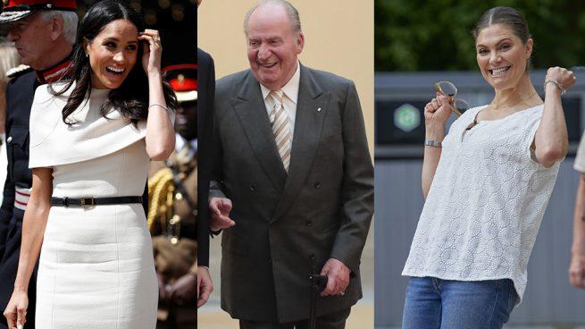 Meghan Markle, el rey Juan Carlos y Victoria de Suecia en un montaje / Gtres