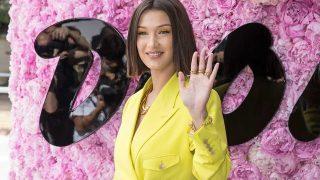 La modelo Bella Hadid en el desfile masculino de Dior. / Gtres