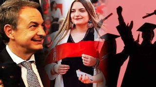 La hija pequeña de José Luis Rodríguez Zapatero se gradúa