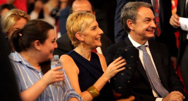 Laura Rodríguez, Sonsoles Espinosa y José Luís Rodríguez Zapatero