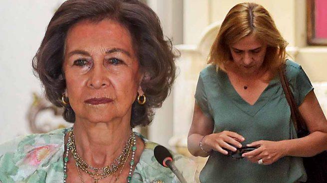 La reina Sofía y la infanta Cristina