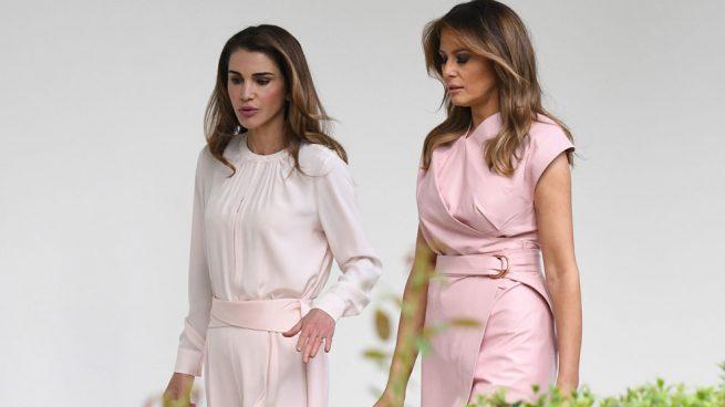 Melania Trump y Rania de Jordania