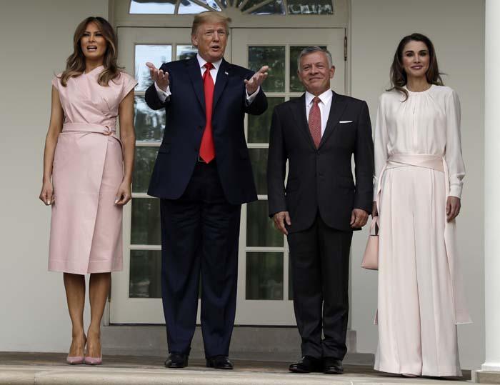 Encuentro entre Melania Trump y Rania de Jordania