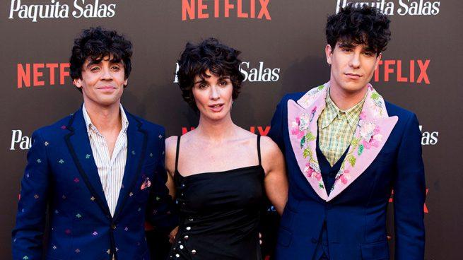 Paz Vega y Los Javis en el estreno de la segunda temporada de 'Paquita Salas' en Madrid / Gtres