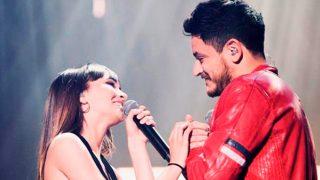 Aitana y Cepeda durante un concierto / Instagram