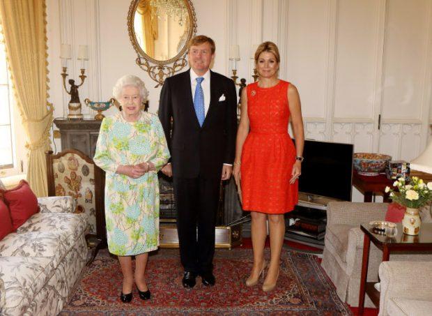 Los reyes holandeses con la reina Isabel en Windsor / Gtres