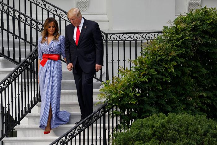 Melania Trump celebrando el 4 de julio 2018