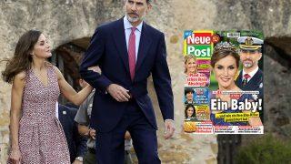 Los Reyes de España, don Felipe y doña Letizia y la portada del Neue Post / Gtres-Fotomontaje.