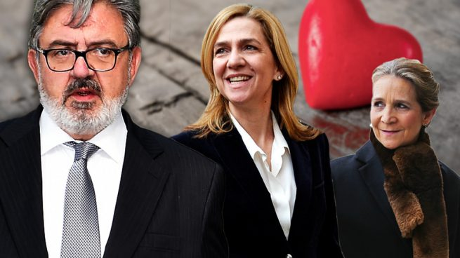 Carlos García Revenga y las infantas Cristina y Elena
