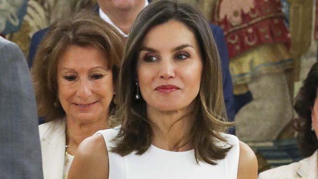 Doña Letizia, más morena que nunca en su encuentro con Doña Pilar