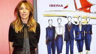 La diseñadora presentando los bocetos en una imagen cortesía de la marca / Teresa Helbig