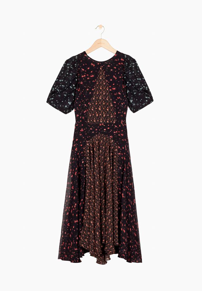 Vestido floral en tonos oscuros de Masscob / Masscob