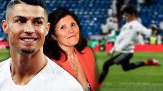 Cristiano Ronaldo junto a su madre y su hijo en un fotomontaje de LOOK