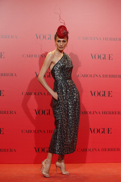 Nieves Álvarez de Carolina Herrera en el Aniversario de Vogue / Gtres