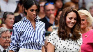 Las esposas de Williams y Harry de Inglaterra han tenido, por primera vez tras la boda y bautizo real, la ocasión de acudir juntas a un compromiso muy especial, el campeonato de tenis de Wimblendon/ Gtres