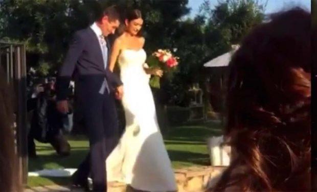 En imágenes| 'Revientan' la exclusiva de la boda de Diego Matamoros y Estela Grande