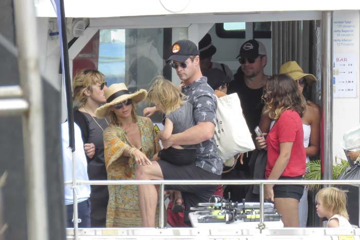 Matt Damon , Elsa Pataky y Chris Hemsworth
