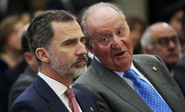El rey Felipe el rey Juan Carlos