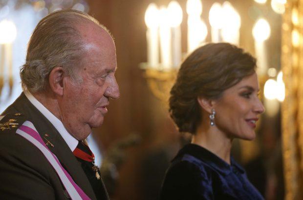 El rey Juan Carlos y Doña Letizia