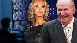 El rey Juan Carlos y Corinna en un fotomontaje de LOOK