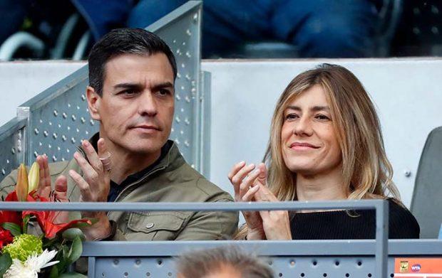 Pedro Sánchez junto a Begoña Gómez