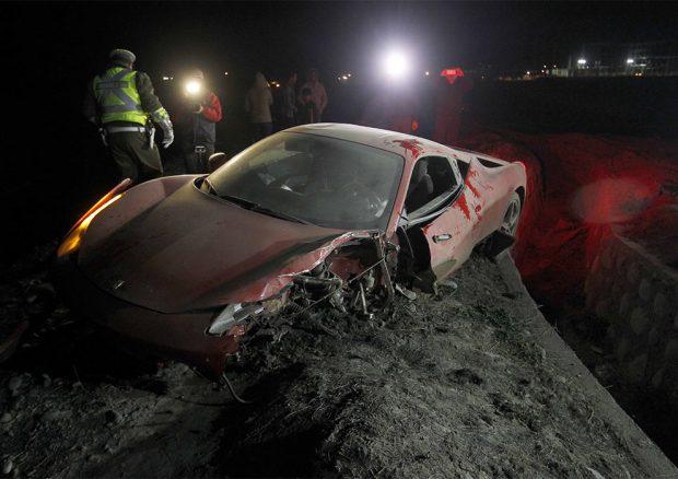 Así quedó el Ferrari de Arturo Vidal / Gtres.